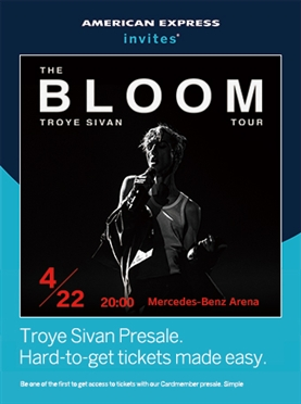 Troye Sivan: The Bloom Tour Live in Shanghai 2019 — American Express Ticketing Channel